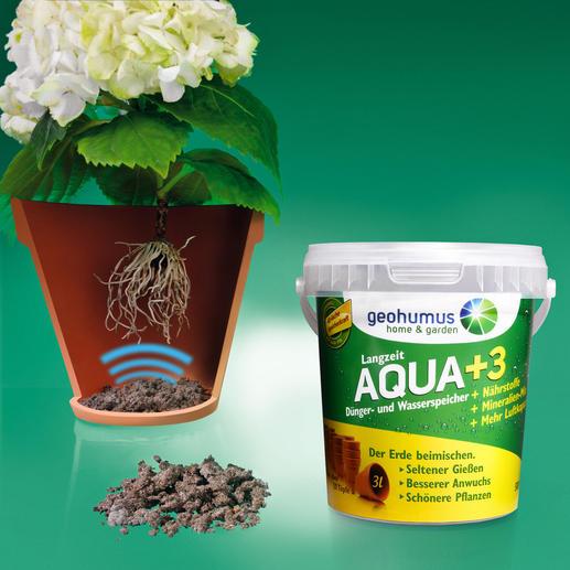 Geohumus® - Speichert das bis zu 40fache seines Gewichts an Wasser – und lässt Ihre Pflanzen prachtvoll gedeihen.