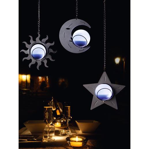 Himmlische Solarleuchten, 3er-Set - Stimmungsvolle Lichtakzente und zauberhafte Dekoration zugleich. Kein Stromanschluss. Kein Kabel.