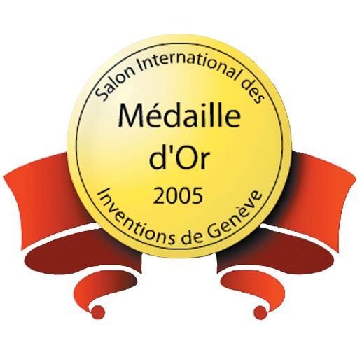 Goldmedaille auf der Erfindermesse in Genf 2005.