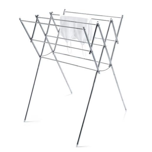 Edelstahl Wäscheständer - Kompakt – oder geräumig. Aber immer stabil.