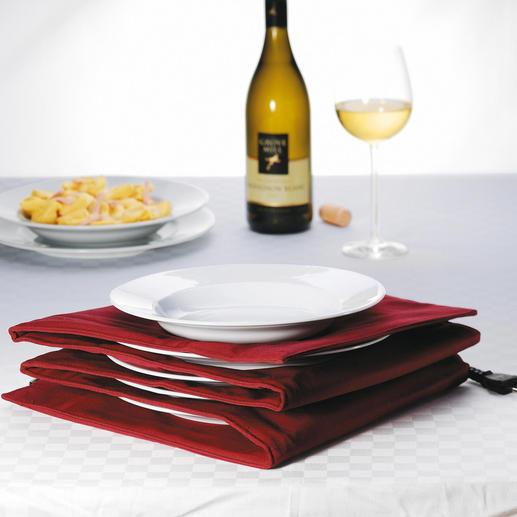 Tellerwärmer für Pasta- und Menüteller - Mit heißer Essfläche und handwarmen Rändern. Für bis zu 8 große Pasta- und Menüteller.