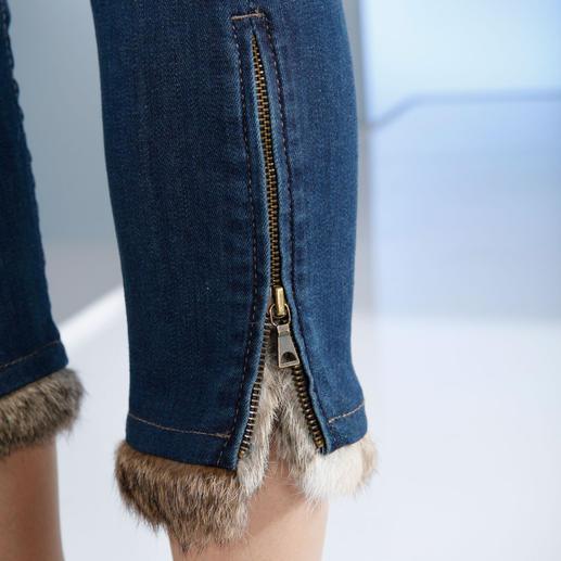 """Liu Jo """"Bottom up""""-Jeans mit Pelz Knackiger Po plus kuschelweicher Kaninchenpelz: die topmodische """"Bottom up"""" von Liu Jo Jeans, Italien."""