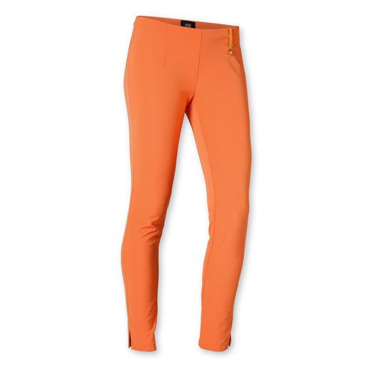 cavalli CLASS Slim-Pants Das genau richtige Orange: Passt zu erstaunlich vielen Farben und trifft exakt den Orange-Ton des Ponchos.