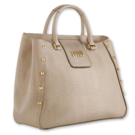 cavalli CLASS Reptil-Bag - Heute topaktuell, bald schon ein begehrter Design-Klassiker: cavalli CLASS Reptil-Bag.