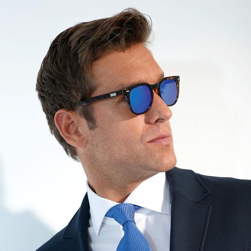 Spektre Spiegelbrille, Blau Der Look der Saison: Bunt verspiegelte Brillen. Das Label der Stars: Spektre.