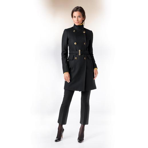 Versace Collection Zweireiher-Wollmantel - Wollmantel, Zweireiher, Schwarz, Gold: Aktuelle Fashion-Trends sind der Signature Look der Versace Collection.