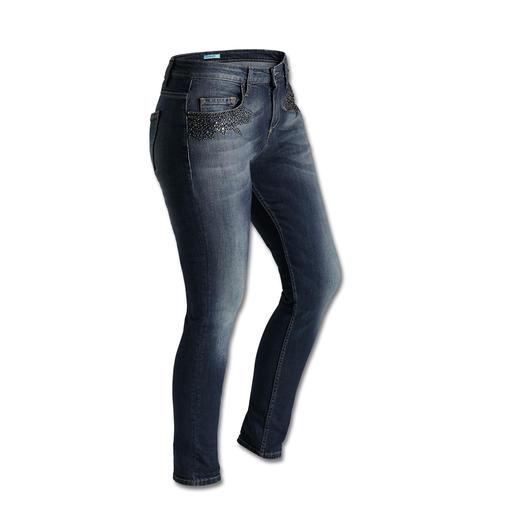 "Liu Jo Relaxed-Skinny ""Stars"" - Jeans mit Bling: Keiner beherrscht den neuen Trend besser als Liu Jo."