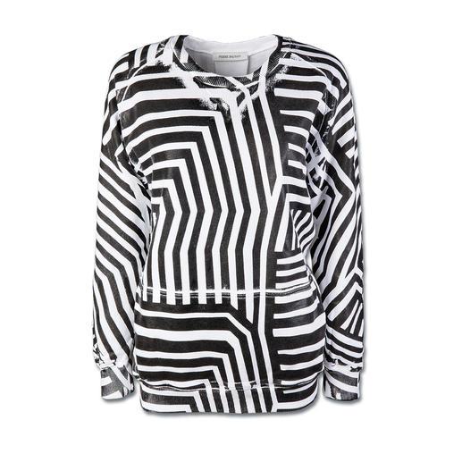 Pierre Balmain Sweatshirt - So viele Fashion-Facts in einem Trend-Teil: Kastig. Oversized. Grafik-Dessin. Schwarz-Weiß.