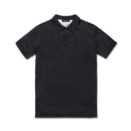 Lagerfeld Polo-Shirt Die neue sportive Eleganz: Edler Glanz. Nobles Anthrazit. Und Lagerfelds eckige Druckknöpfe.