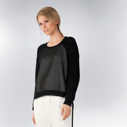 CostumeNemutso Coated Sweater - Vorne kurz und hinten lang. Grob gestrickt und beschichtet. Der modische Basic-Sweater 2015.