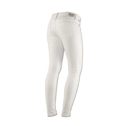 """Robin's Jean Baumwollhose """"White Diamond"""" - Der Fashion-Star unter den Sommer-Hosen: mit dezent schimmerndem Coating. Von Robin's Jean, Los Angeles."""