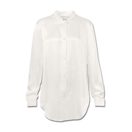 Pierre Balmain Silksatin-Bluse - Clean und puristisch: Die weiße Bluse in ihrer modischsten Form.