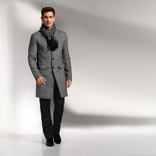 Lagerfeld Fischgrat-Mantel - Lagerfeld schafft den Spagat zwischen lässiger Mantel-Mode und modischem Business-Chic.