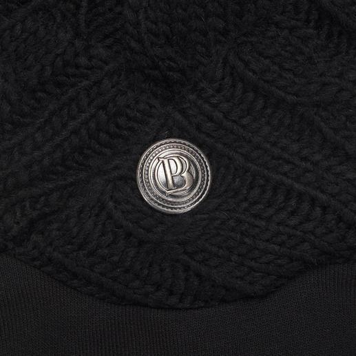 Pierre Balmain Schalkragen-Sweater Pierre Balmains Upgrade für den Sweater: Kerniger Zopfstrick. Eleganter Schalkragen.