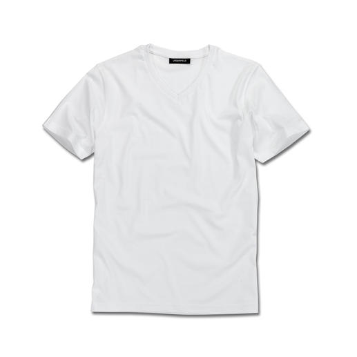 Karl Lagerfeld Basic-Shirts 2er-Set Das ideale Basic-Shirt: Puristisch schwarz oder weiß. Schlank geschnitten.