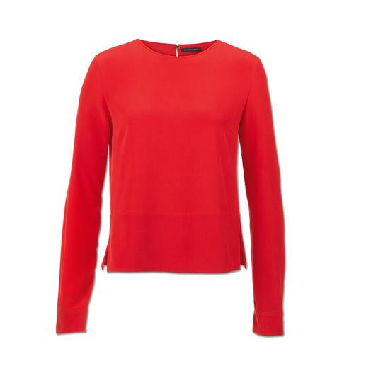 "Strenesse Seiden-Shirt-Bluse, Rot - Sportiver Schnitt. Elegantes Material. Strenesse hat die perfekte Bluse zum Thema ""Sporty-Elegance""."