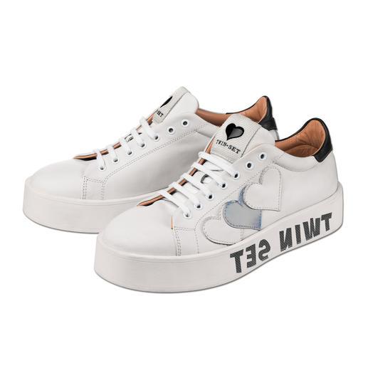 Twin-Set Sneakers all white Ohne weiße Sneaker läuft auch 2016 fast nichts. Die von Twin-Set sind genau richtig.