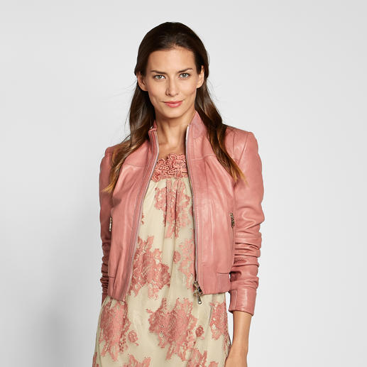 "TWINSET Lederblouson ""Pink Rose"" So elegant, so feminin sind coole Lederjacken nur selten. Von TWINSET."