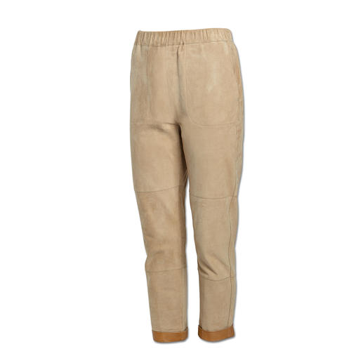 Pinko Lammnubuk-Jogging-Pants - Lässiges Luxus-Piece: Jogging-Pants aus softem Lammnubuk.