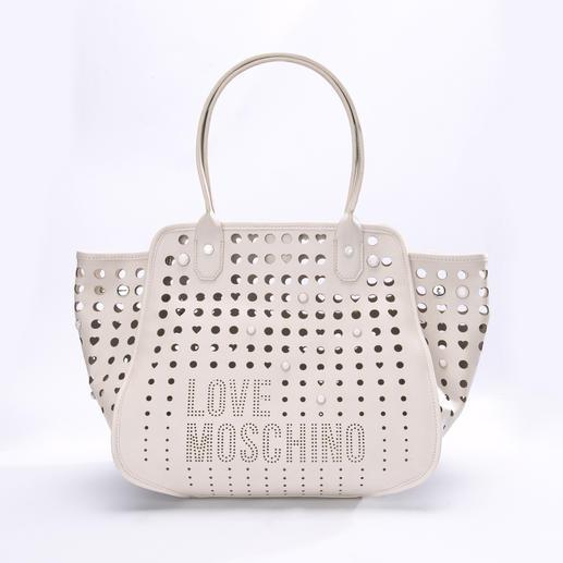 Love Moschino Statement-Bag - Richtige Form. Wichtige Farbe. Unverkennbares Logo-Dessin. (Und für eine Designertasche erfreulich günstig.)