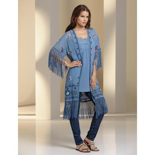 TWINSET Lingerie-Tunika oder Kimono-Mantel Style-Booster Kimono-Mantel. Bei TWINSET kostbar handbestickt. Und trendgerecht kombiniert.