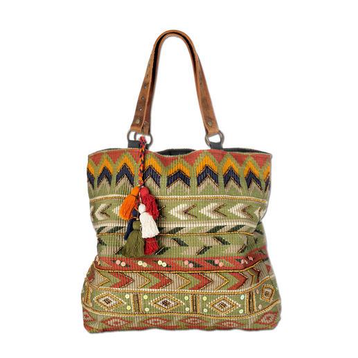 Smitten Ethno-Tasche - Ethno-Taschen tragen jetzt viele. Diese handgefertigten Unikate aus Indien haben Seltenheitswert.