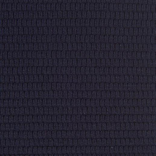 Lagerfeld Merino-Wabenpullover Wabenmuster, selten fein und elegant. Und perfekt zum angesagten Blue-in-Blue-Look.