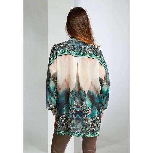 Versace COLLECTION Tunika-Bluse Elegant und hochmodisch zugleich: Die Tunika-Bluse von Versace COLLECTION.