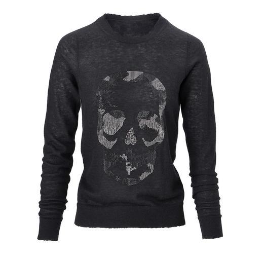 Zadig & Voltaire Skull-Pullover - Kaschmir-Klassiker mit coolem Fashion-Update: Der perlenbestickte Skull- Pullover von Zadig & Voltaire.