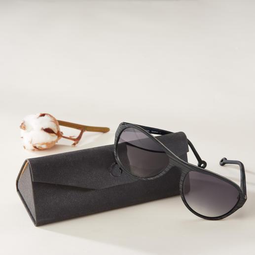 Monkeyglasses® Baumwoll-Sonnenbrille Die Sonnenbrille aus Baumwollfasern: Trendgerechte Holz-Optik. Aber leichter. Stabiler. Feuchtigkeitsbeständiger.