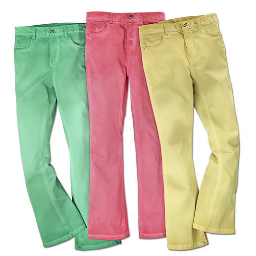 TWINSET Colour-Jeans Cropped Flare-Form + Candy-Colours: Die Jeans des Fashion-Frühlings kommt von TWINSET.