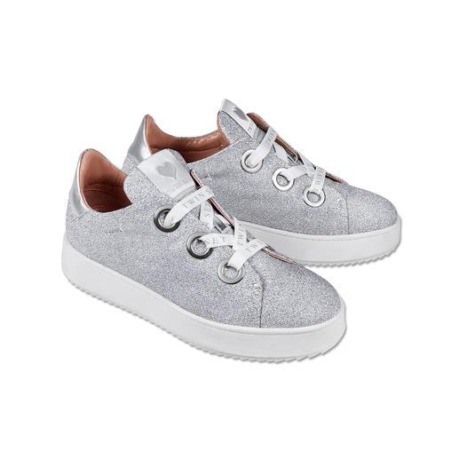 TWINSET Lurex-Sneaker Ganz oben in den Sneaker-Charts: Glitter und dicke Sohlen. Spektakulär umgesetzt von TWINSET.