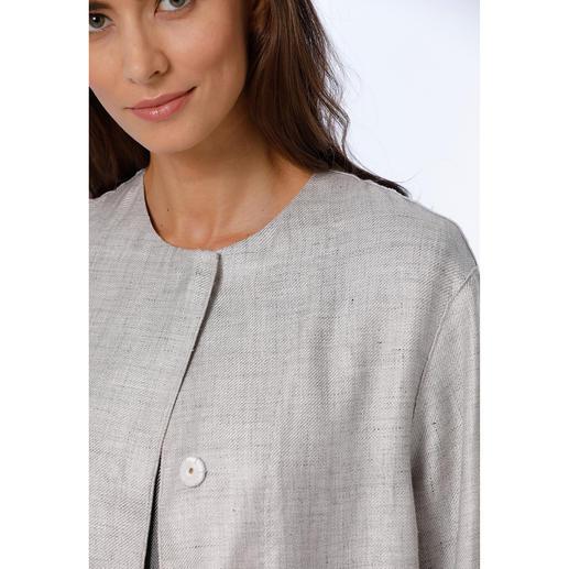 Les Copains Leinenmantel oder Leinenkleid Mode-Liebling. Aber mit Langzeit-Garantie: Clean-Chic. Ton-in-Ton. Leinen-Look. Von Les Copains.