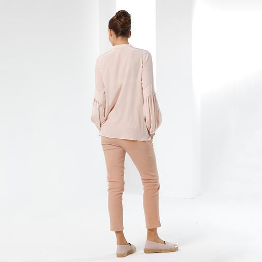 SLY010 Stretchseiden-Tunika Trend Hippie-Bluse. Die von SLY010 ist aus reiner Seide – selten edel und elegant.