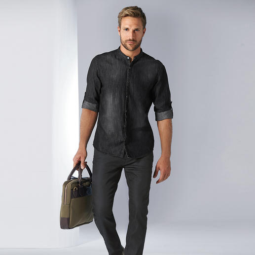 Lagerfeld Denim-Hemd Kernige, angesagte Raw-Denim-Optik – dabei weich wie gewaschen.