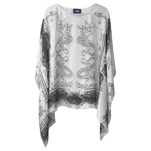 cavalli CLASS Kaftan-Bluse Lässiger, kurzer Kaftan-Schnitt - aber elegant wie eine Bluse.