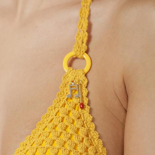 Stella McCartney Häkel-Bikini Gehäkelt und frisches Gelb: Stella McCartneys Bikini vereint zwei Modetrends dieses Sommers.