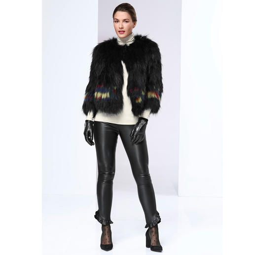 Zadig & Voltaire Zottelfell-Jacke - Key Piece des Winters: Die Zottelfell-Jacke mit Farbakzenten. Bester Fashion-Invest ist die vom Pariser In-Label Zadig & Voltaire.