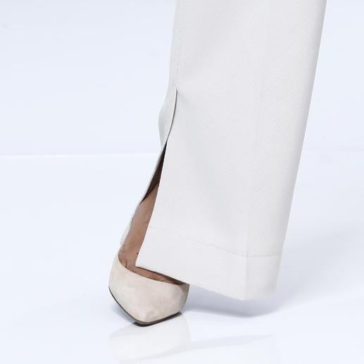 Strenesse Schurwollhose, Kitt Trend-Thema Hosen im Herrenstil: Von Strenesse dennoch feminin und elegant umgesetzt.
