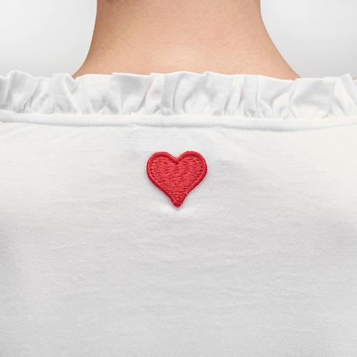 Twin-Set Rüschen-Shirt Vom Basic zum modischen Blickfang: Das Rüschen-Shirt von Twin-Set.