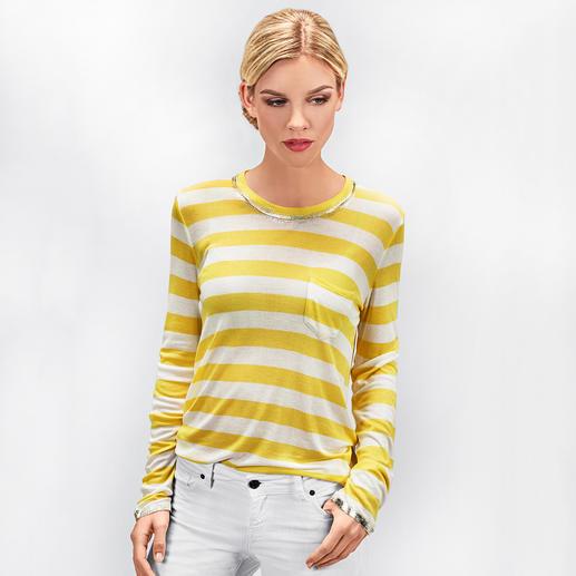 Zadig & Voltaire Metallic-Paint-Streifenshirt Trend-Upgrade für das kultige Metallic-Paint-Shirt von Zadig & Voltaire: maritime Streifen.