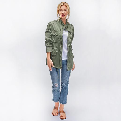 "Liu Jo Jeans Cropped Bottom up Perlensaum Kaum eine Skinny-Jeans lässt Ihren Po knackiger aussehen als die ""Bottom up"" von Liu Jo Jeans, Italien."
