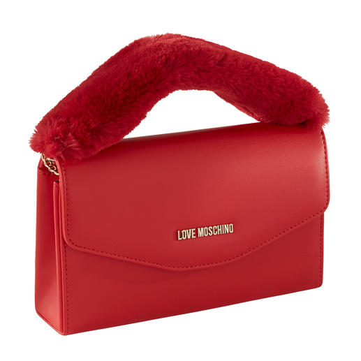 Love Moschino Boxy-Bag 2 Trends in einer Tasche: Boxy-Bag + Fake Fur. Vom In-Label Love Moschino, dennoch nur 109,- €.