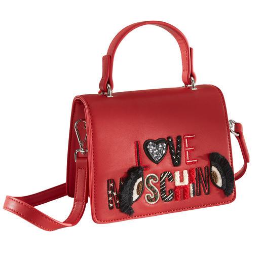 Love Moschino Mini-Bag - Hochwertig handbestickt von einem der wohl coolsten Labels – und doch nur 179,- Euro: die Mini-Bag von Love Moschino.