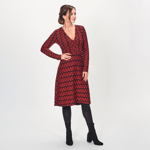M Missoni Grafik-Strickkleid - Grafik-Muster. A-Linie. Trendfarben. Fashion-Strick vom Spezialisten M Missoni.