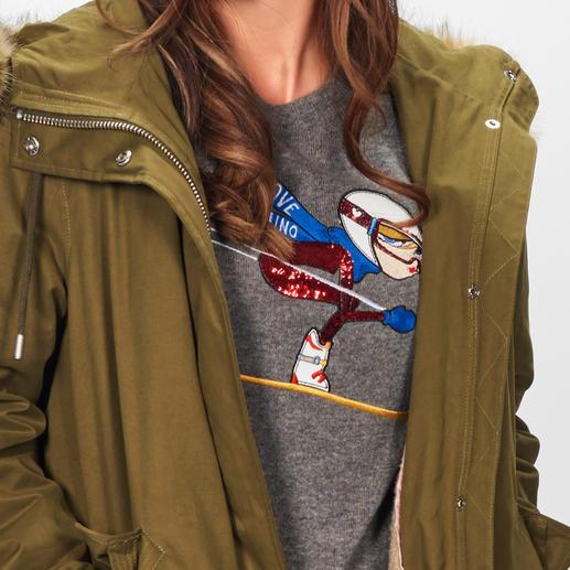 Love Moschino Ski-Pullover - Love Moschinos Beitrag zum Thema Sports-Couture: der Statement-Pulli mit Sammler-Motiv.