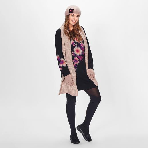 TWINSET Blüten-Longpulli TWINSET trifft den Flower-Trend & die angesagt lange Pullover-Form.