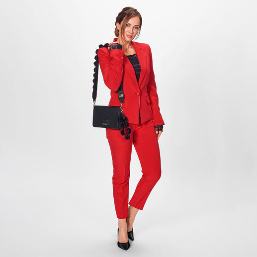 Liu Jo Power-Suit-Blazer oder -hose - Business-Look für Fashion-Fans: Liu Jos roter Power-Suit.