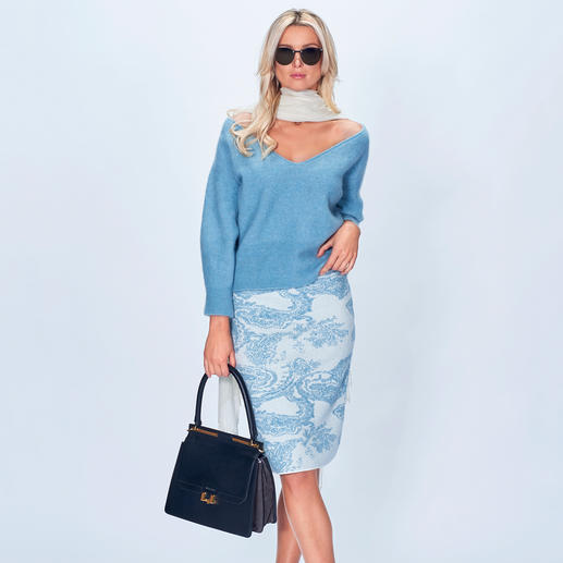 Stefanel Pullover oder Strickrock Ice Blue Ice Blue allover: Die perfekte Strickkombination in der 2018er Winter-Trendfarbe kommt von Stefanel.