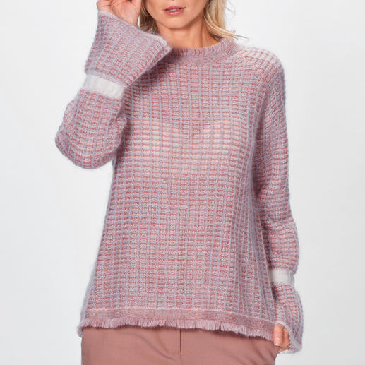 Stefanel Couture-Pullover Hochmodisch und außergewöhnlich couturig: der Mohair-Pullover in 4 Trendfarben. Von Stefanel/Italien.